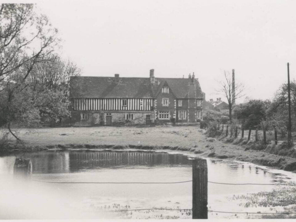 Archive photograph of Llanthony Secunda in winter