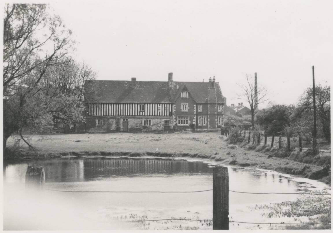 Archive photograph of Llanthony Secunda Priory in winter